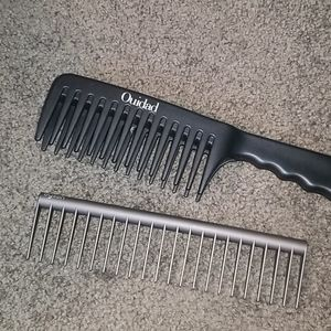 Ouidad and Dyson detangler combs.